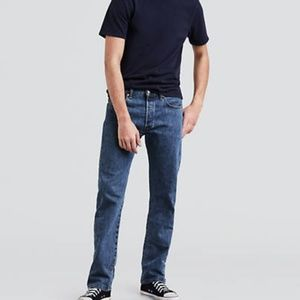 Men's Medium Wash 501 Levi's Button Fly Jeans